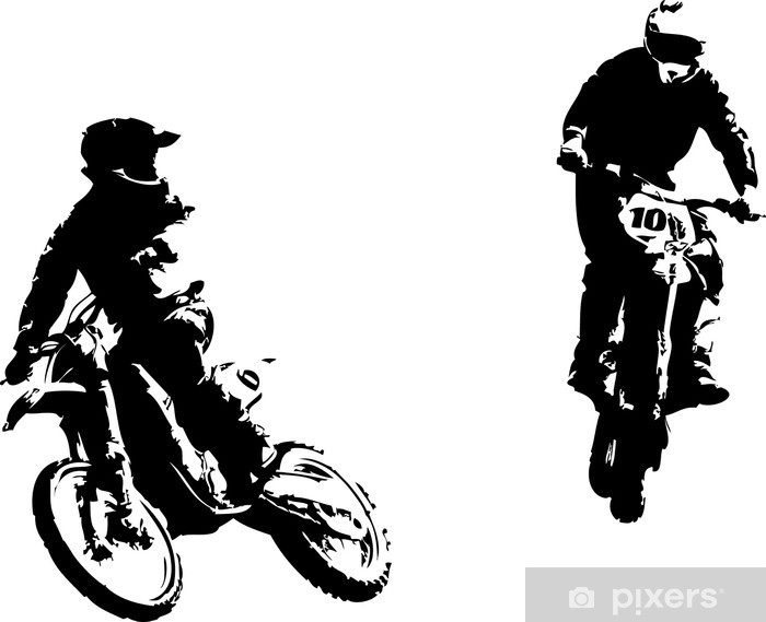 two motocross riders Vinyl Wall Mural - Wall decals