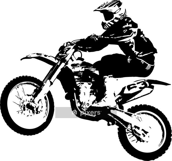 Vinilo para Pared Motocross puente - Vinilo para pared