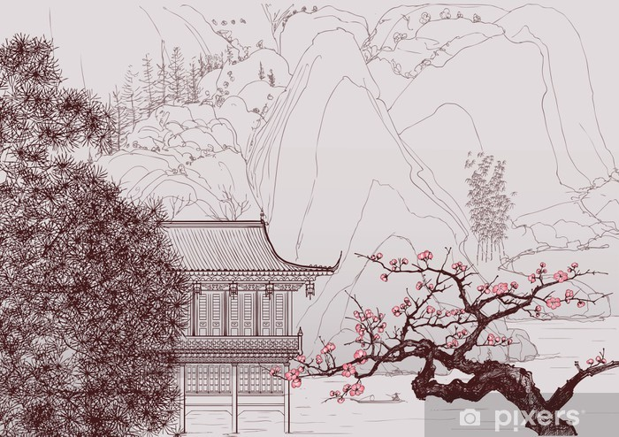 Chinese landscape Vinyl Wall Mural - Styles