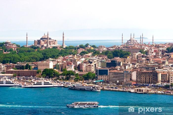 Vinyl Fotobehang Istanbul, Türkei, Blaue Moschee, Hagia Sofia - Thema's