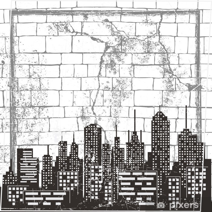 Naklejka Pixerstick Miejskie puste tło - Style