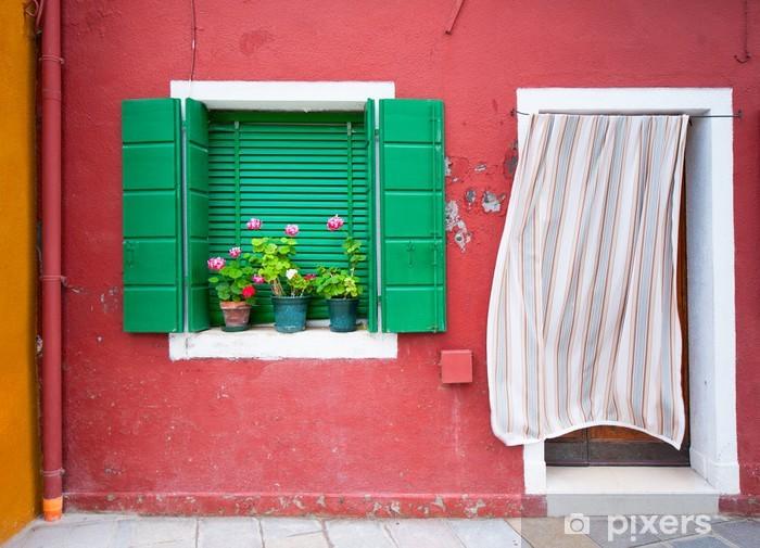 Kleurrrijke Boekenkast Fotobehang : Fotobehang kleurrijke huizen van burano venetië italië u pixers