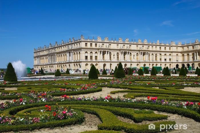 Paleis Van Versailles Tuin.Fotobehang Bloemrijke Tuin Kasteel Van Versailles Pixers We
