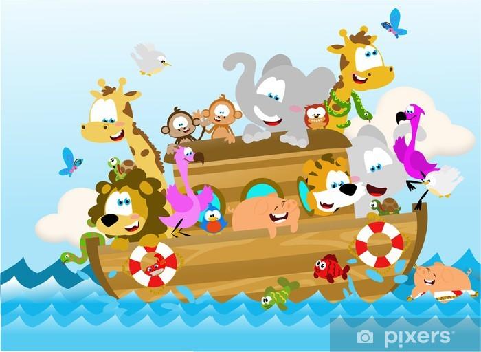 Papier peint vinyle L'arche de noé - Pour enfant de 5 ans