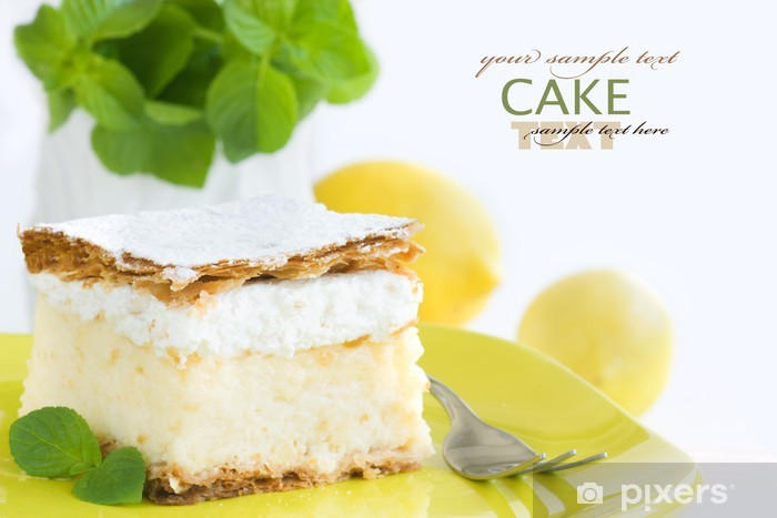 Naklejka Pixerstick Wanilia i śmietanka deser budyń cake - Słodycze i desery