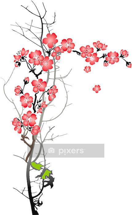Vinilo para Pared Blooming cherry - Estilos