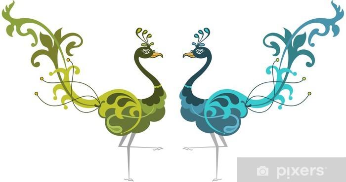 Papier peint vinyle Main Peacock Dessin - Styles