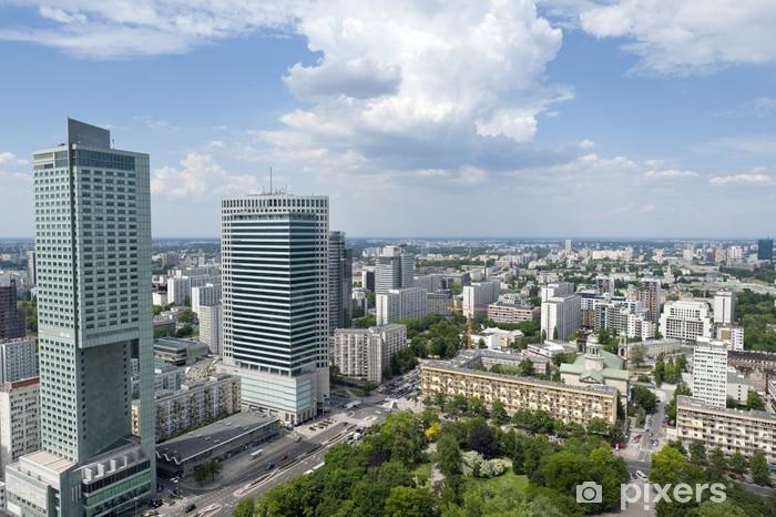 Nálepka Pixerstick Panorama města Varšavy - Témata