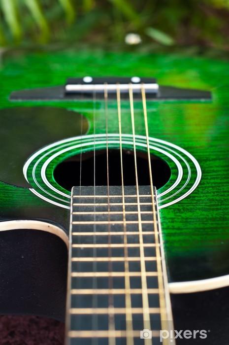 papier peint guitare acoustique pixers nous vivons pour changer. Black Bedroom Furniture Sets. Home Design Ideas