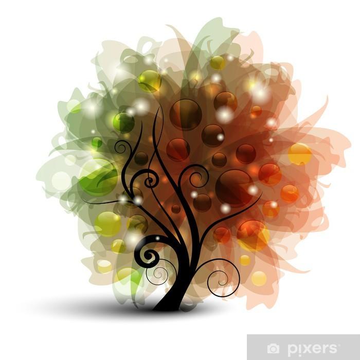 Plakát Abstraktní podzimní strom - Abstraktní podzimní strom - Roční období