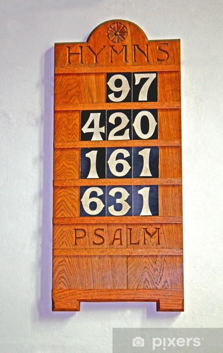 Naklejka Pixerstick Wooden Board Wyświetlacz dla Numbers kościelnych pieśni. - Znaki i symbole