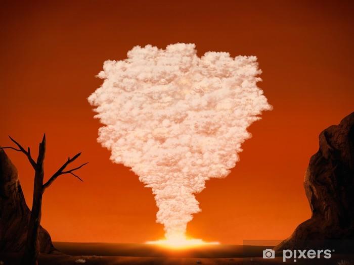 Papier peint vinyle Mushroom cloud à partir d'une grande explosion dans le désert - Ecologie