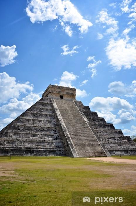 Naklejka Pixerstick Portret starożytnej piramidy Majów w Chichen-Itza, Meksyk - Ameryka