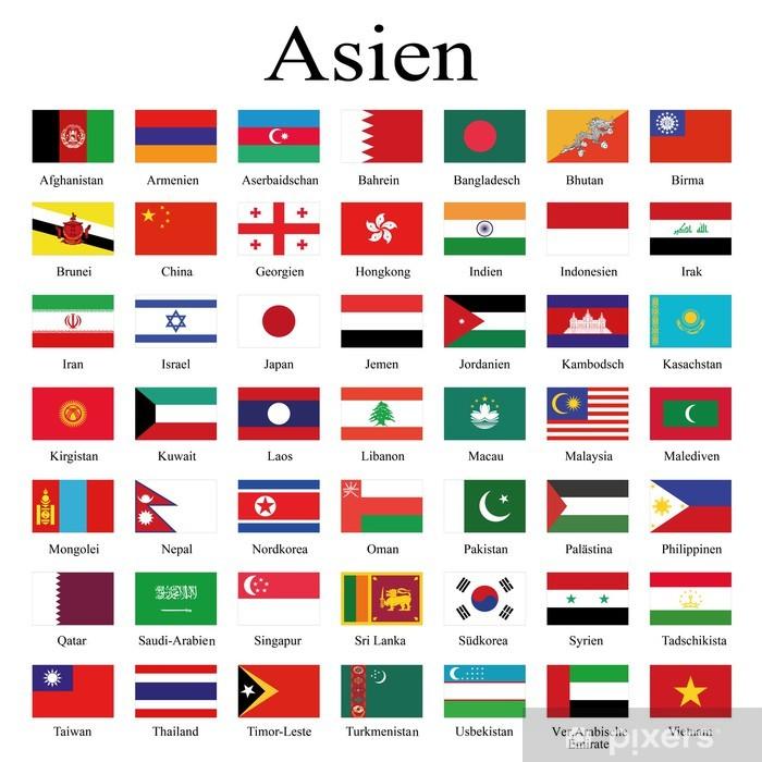 Papier peint vinyle Drapeaux des pays d'Asie - Asie