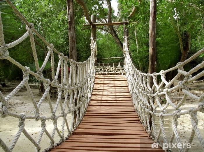 Fototapeta winylowa Przygoda drewniane dżungli Most lina zawieszenia - Tematy