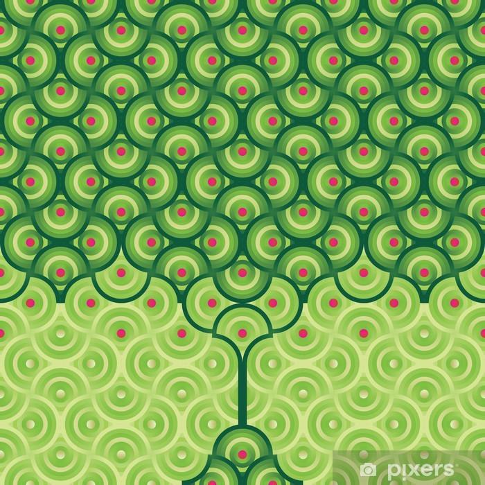 Papier peint vinyle Sans soudure de fond - modèle d'arbre d'été - Pommiers