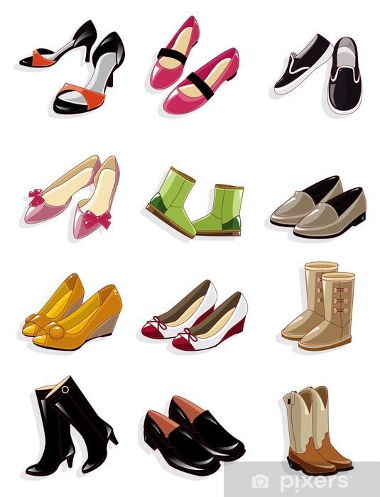 Fotomural Zapatos de dibujos animados icono • Pixers® - Vivimos para ... 8dc2278febf3b