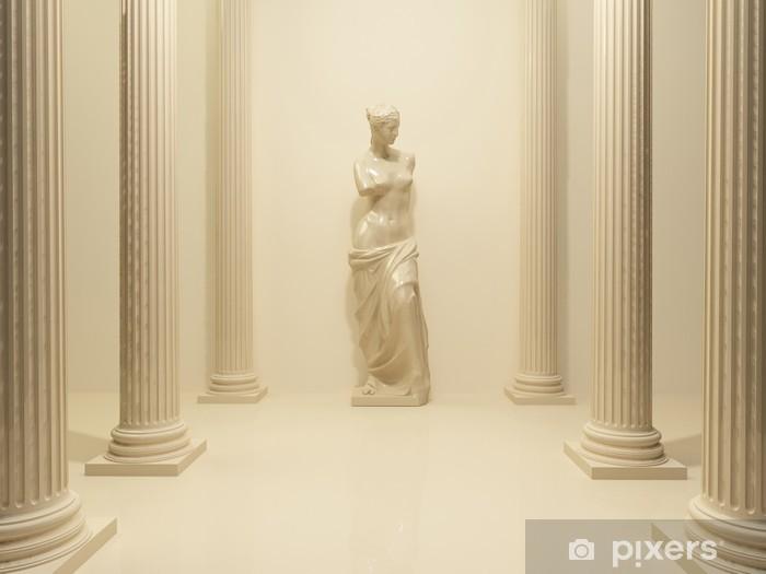 Naklejka Pixerstick Starożytny posąg nagiej Wenus w środku perspektywy pigułki - Tematy