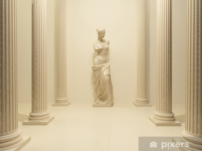 Ancient Statue of a nude Venus in the middle of perspective pill Vinyl Wall Mural - Themes