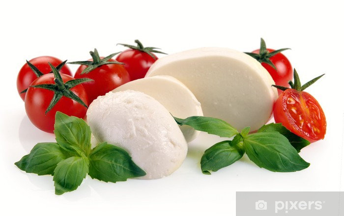 Fototapeta winylowa Mozzarella pomidory cherry - Sery
