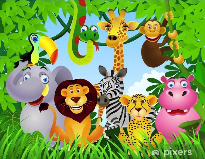 Vinyl-Fototapete Animal cartoon - Für Kindergartenkind