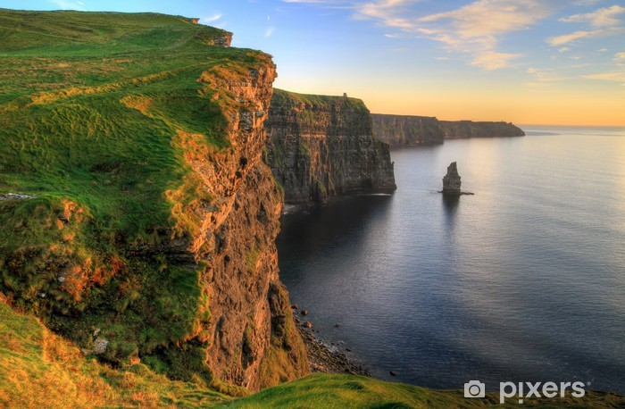 Cliffs of Moher at sunset - Ireland Pixerstick Sticker - Themes