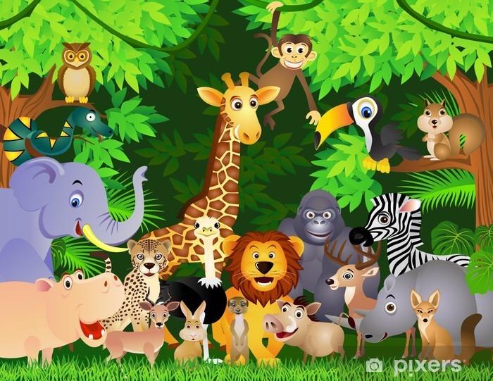 Fotomural Estándar Animal cartoon - Para chico