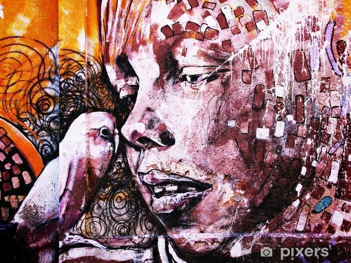 Vinyl Fotobehang Nina graffiti - pajaro - Kunst en Creatie