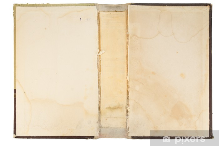 Naklejka Pixerstick Stare tekstury okładka książki - Czytanie