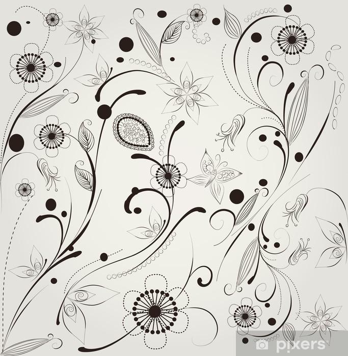 Vinyl-Fototapete Muster Blume - Hintergründe
