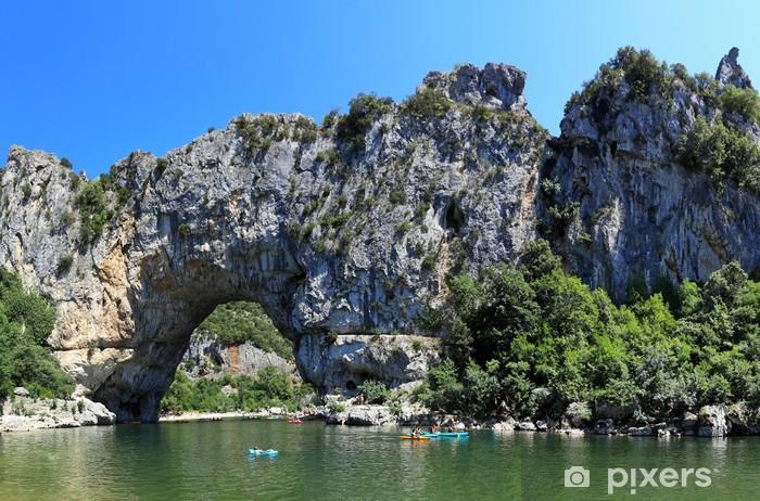 Naklejka Pixerstick Pont D'Arc w wąwozy Ardeche we Francji - Europa