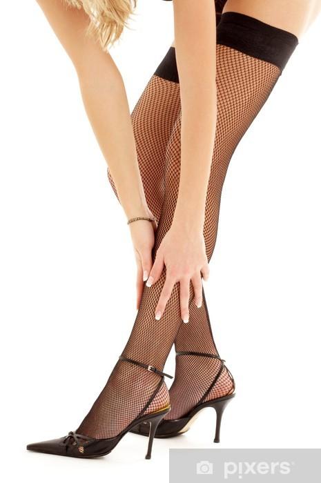 936067674 Vinilo Medias negras y zapatos de tacones altos Pixerstick