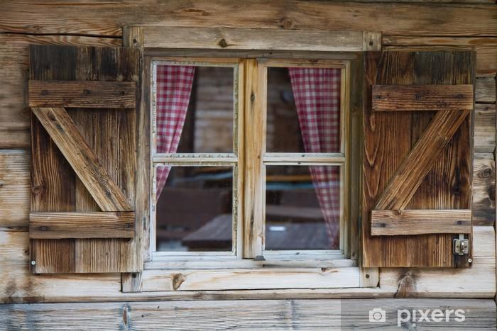 Vinyl Fotobehang Raam van een berghut in Zuid-Tirol - Stijlen