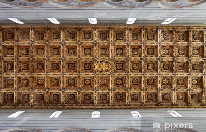 Carta da parati soffitto a cassettoni pixers viviamo for Carta parati vinile