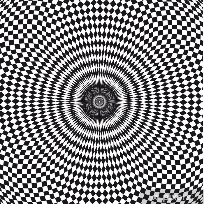 Vecteur Illusion Doptique Wall Mural Vinyl