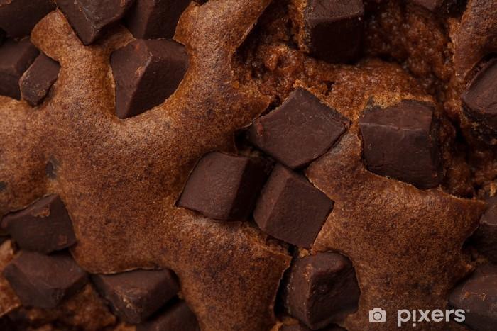 Sticker Pixerstick Gros plan sur un brownie au chocolat - Desserts et friandises