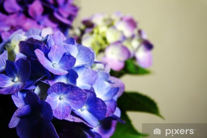 Sticker Pixerstick Hortensia - Fleurs