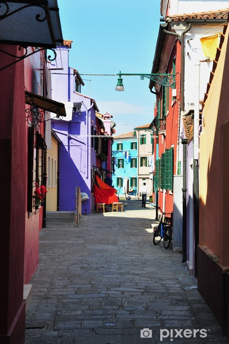 Naklejka Pixerstick Kolorowe Burano, Włochy - Miasta europejskie