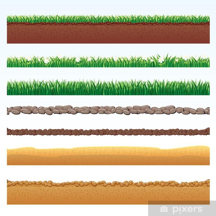 Naklejka Pixerstick Seamless Grounds Cutaway - Inne pejzaże