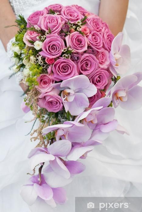 Nálepka Pixerstick Svatební kytice - Slavnosti