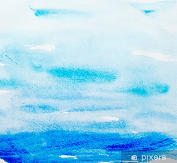 Fototapeta zmywalna Kolor gładzi akwareli sztuki - Tekstury
