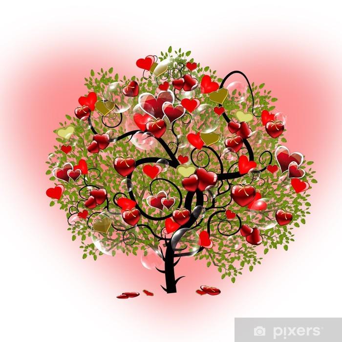 Sticker Pixerstick Cœur de l'arbre - Bonheur