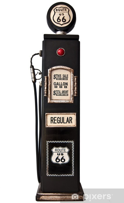 Route 66 fuel pump Vinyl Wall Mural - Other objects