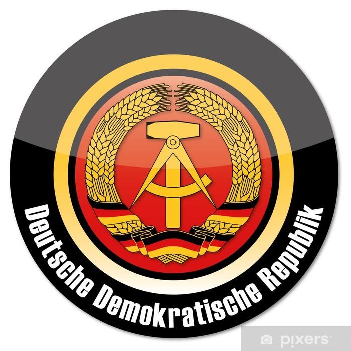 Fototapeta winylowa DDR Przycisk - Znaki i symbole