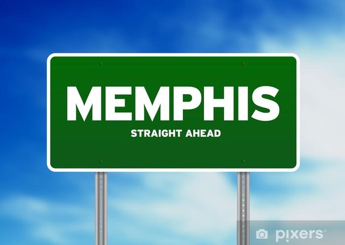 Papier peint vinyle Memphis, Tennessee Signe de route - Amérique