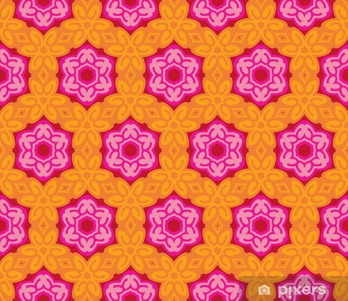 Poster Nahtlose Muster mit romantischen Blüten und Blätter - Hintergründe