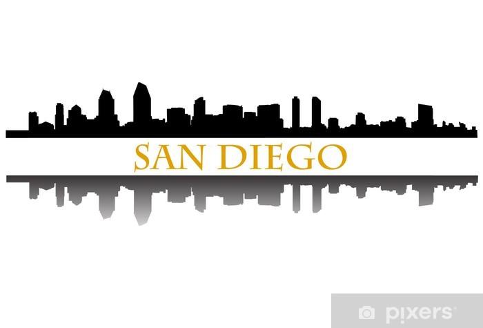 San Diego Skyline Sticker Pixers 174 We Live To Change