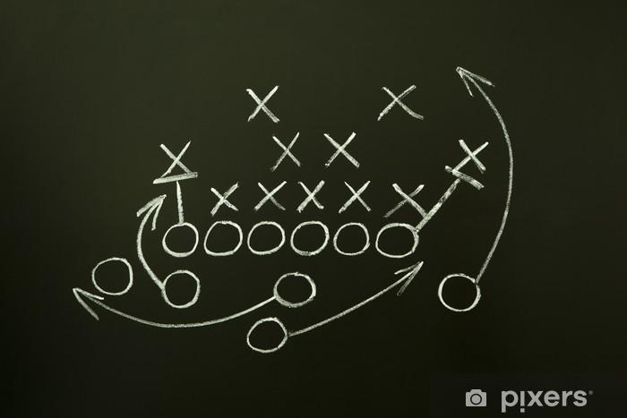 Pixerstick Aufkleber Spiel Strategie auf Tafel gezeichnet - Teamsport