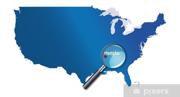 Papier peint vinyle Memphis, Tennessee, États-Unis, États-Unis - localisation - Amérique