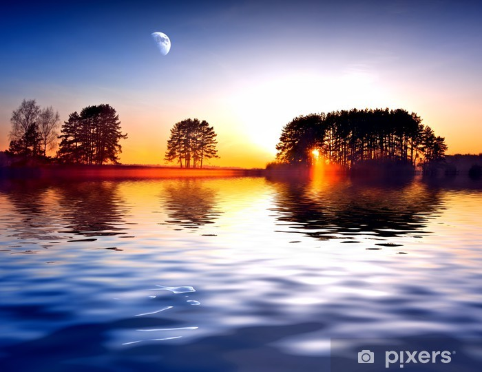Naklejka Pixerstick Wschód słońca - Pory roku